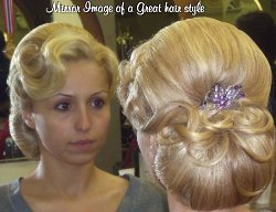 fashionable hair styling curls and highlighting