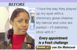 Enthic hair presents a real challange..click to see makeover
