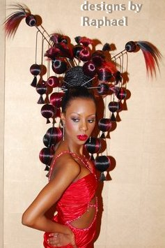 Ethnic hair styles and braided hair pieces are offered as a salon service at Raphael Internations Salon in Detroit MI.