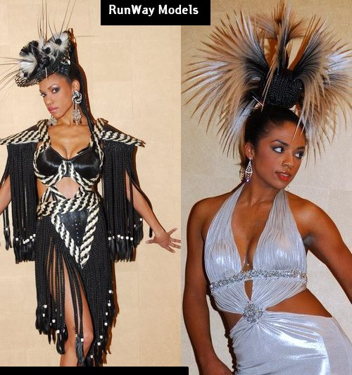 avant garde hairstyles. Raphael International hair styles for runway modeling and entertainers and